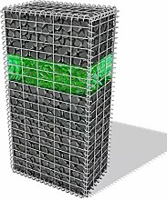 WEILANDEAL Gabionen Set mit Körbchen aus Glas und