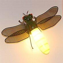 WEILON Kinder Wandleuchten Wandleuchten dragonfly kreativ und Spielplatz für die Kinder Zimmer Schlafzimmer Lampen