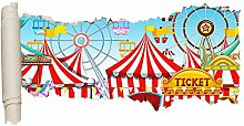 WEILONG Wandaufkleber Spielplatz Zirkus Kinder
