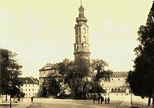 Weimar - 5 historische Fotografien um 1900 (Reproduktionen) - Schloss / Goethes Gartenhaus / Liszt Haus / Goethe-Schiller Denkmal / Schiller Haus - Format 13x18 cm