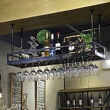 Wein Bar Einfachen Stil Eisen Hängende Weinglas