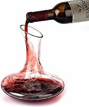 Wein Dekanter, Queta Hand geblasen 100% Bleifreie Kristall Dekanter Rotwein Karaffe, Wein Geschenk, Wein Zubehör