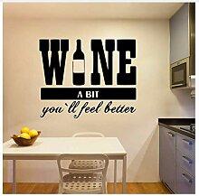 Wein Ein Bisschen Wasserdichte Wandaufkleber