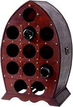 Wein Fass Regal 12x Flaschen Halter rustikal Holz