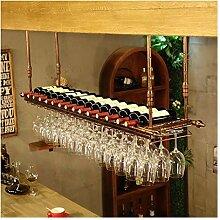 Wein Glas Rack Bartheke Wein Rack Hängen Vintage