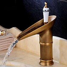 Wein Glas Stil Einhebel Wasserfall Waschbecken