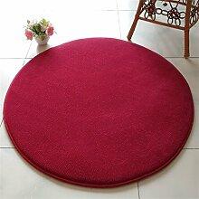 Wein Rot Runde Schlafzimmer Teppich Einfache Hängesessel Rattan Stuhl Computer Stuhl Drehstuhl Nachttischdecke Wohnzimmer Couchtisch Matten ( Farbe : 140CM )