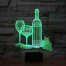 Weinbecher 3D Nachtlicht Kreative Elektrische