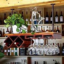 Weinbecher-Rack Massivholz Weinglas Rack Upside