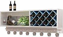 Weinbecher-Rack Painted Weinregal Wand hängen