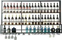 Weinbecher-Rack Wand-montiert Rotwein Wand