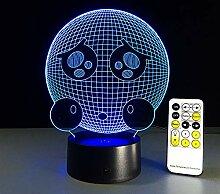 Weinen Gesicht Form 3D Nachtlicht LED Vision