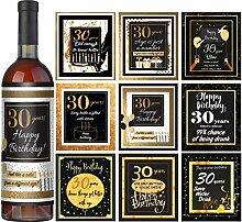 Weinetiketten zum 30. Geburtstag 9er Set – 30.