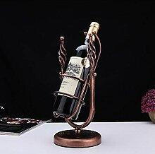 Weinflasche, europäisches Schmiedeeisernes