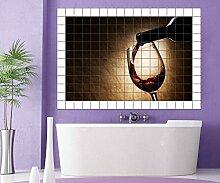 Weinflasche Fliesenaufkleber 10 15 20 25 cm
