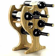 Weinflaschen Flaschenregal Bambus Weinregal