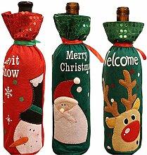 Weinflaschendekoration Weihnachten Flaschenhülle