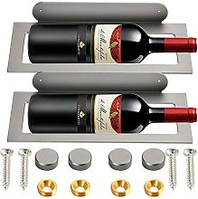 Weinflaschenhalter aus Aluminium, zur Wandmontage,