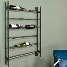 Weinflaschenhalter in Schwarz Stahl