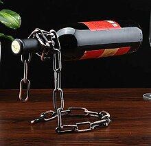 Weinflaschenhalter Ketten Design Weinregal