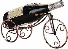 Weinflaschenhalter Metall Dreirad Form Rot