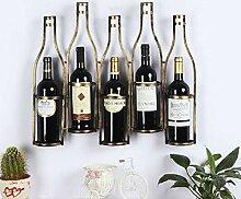 Weinflaschenhalter Metall Weinregal Retro