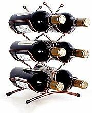Weinflaschenhalter Tischplatte Weinregal Metall