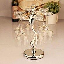 Weinflaschenhalter Weinglas weinglashalter halter wine glass holder Künstlerisch Zusammenfassung Silber