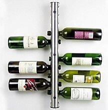 Weinflaschenregal aus Edelstahl Weinregal