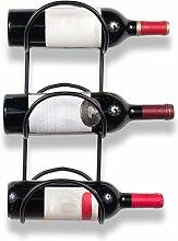 Weinflaschenregal, aus Schmiedeeisen, 3 Fächer,