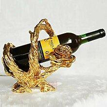 Weinflaschenregal, europäische Wurzelschnitzerei,