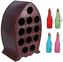 Weinflaschenregal für 12 Weinflaschen |