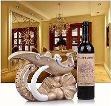 Weinflaschenregal, geeignet für Zuhause Skulptur