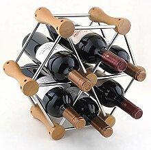 Weinflaschenregal, Kreatives Weinregal für 6