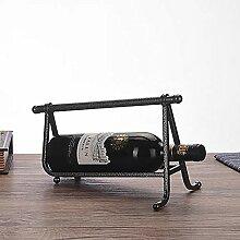 Weinflaschenregal mit modernem, minimalistischem,