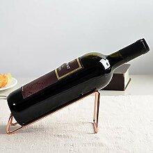 Weinflaschenregal mit Retro-Schmiedeeiserner