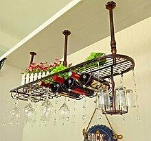 weingestell Wein Glashalter,Wein Glas Rack, Weinglas Hanger, Stemware Rack,Weinglas Rack Stemware Weinregale ( Farbe : Bronze coloured , größe : 100*25cm )