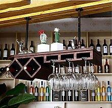 weingestell Wein Glashalter,Wein Glas Rack, Weinglas Hanger, Stemware Rack,Weinglas Rack Stemware Weinregale ( Farbe : Bronze , größe : 80*28cm )