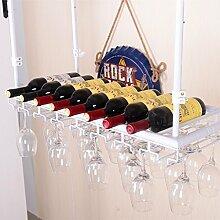 weingestell Wein Glashalter,Wein Glas Rack, Weinglas Hanger, Stemware Rack,Weinglas Rack Stemware Weinregale ( Farbe : Weiß , größe : 80*35cm )
