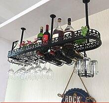 weingestell Wein Glashalter,Wein Glas Rack, Weinglas Hanger, Stemware Rack,Weinglas Rack Stemware Weinregale ( Farbe : Schwarz , größe : 100*25*32cm )