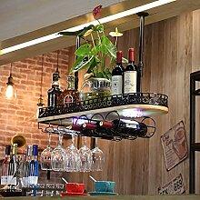 weingestell Wein Glashalter,Wein Glas Rack, Weinglas Hanger, Stemware Rack,Weinglas Rack Stemware Weinregale ( Farbe : Schwarz , größe : 80*28*12cm )