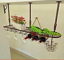 weingestell Wein Glashalter,Wein Glas Rack, Weinglas Hanger, Stemware Rack,Weinglas Rack Stemware Weinregale ( größe : 100*25cm )