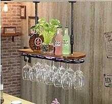 weingestell Wein Glashalter,Wein Glas Rack, Weinglas Hanger, Stemware Rack,Weinglas Rack Stemware Weinregale ( Farbe : 1 , größe : 82*28*3.5cm )