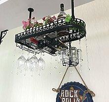 weingestell Wein Glashalter,Wein Glas Rack, Weinglas Hanger, Stemware Rack,Weinglas Rack Stemware Weinregale ( Farbe : Schwarz , größe : 60*25*32cm )
