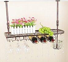 weingestell Wein Glashalter,Wein Glas Rack, Weinglas Hanger, Stemware Rack,Weinglas Rack Stemware Weinregale ( Farbe : Bronze color , größe : 80*25cm )
