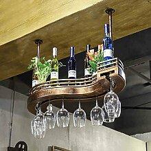 weingestell Wein Glashalter,Wein Glas Rack, Weinglas Hanger, Stemware Rack,Weinglas Rack Stemware Weinregale ( größe : 60*23cm )
