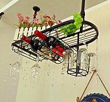weingestell Wein Glashalter,Wein Glas Rack, Weinglas Hanger, Stemware Rack,Weinglas Rack Stemware Weinregale ( Farbe : Schwarz , größe : 60*25cm )