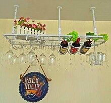 weingestell Wein Glashalter,Wein Glas Rack, Weinglas Hanger, Stemware Rack,Weinglas Rack Stemware Weinregale ( Farbe : Weiß , größe : 100*25cm )