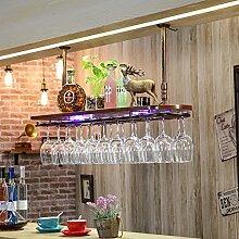 weingestell Wein Glashalter,Wein Glas Rack, Weinglas Hanger, Stemware Rack,Weinglas Rack Stemware Weinregale ( Farbe : 2 , größe : 82*28*3.5cm )