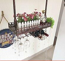 weingestell Wein Glashalter,Wein Glas Rack, Weinglas Hanger, Stemware Rack,Weinglas Rack Stemware Weinregale ( Farbe : Bronze coloured , größe : 60*25*32cm )